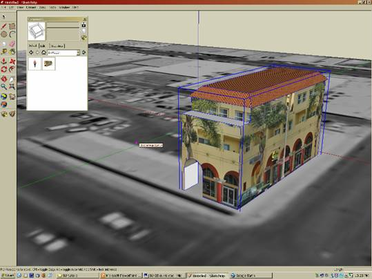 how to get material window to show in sketchup
