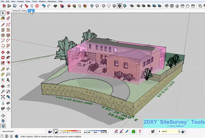 Buy 2DXY SiteSurvey tools for sketchup