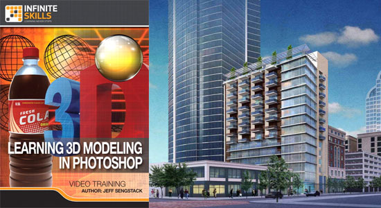 3D Modeling in Photoshop - An exclusive training video from infinite skills