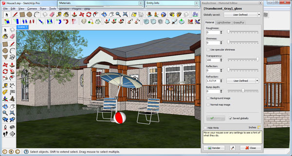 3D model in Trimble SketchUp