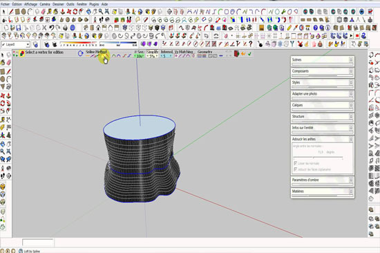Create a model with CurviLoft sketchup plugin & render it with Keyshot 5