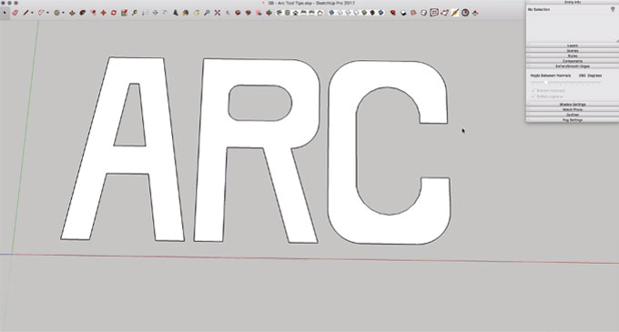 Some useful tips on Sketchup's Arc Tool
