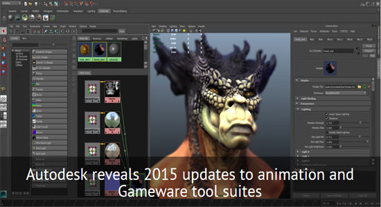 Autodesk Reveals 2015 Versions of Its 3D Animation Tools