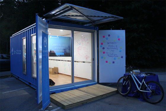 Betaversity recently launched BetaBox, a mobile prototyping lab, loaded with rapid prototyping tools like 3D printers, laser cutters, scanners, design equipment as well as speed of though materials all inside a 25-foot-long shipping container.