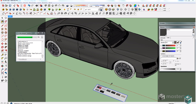How to use V-ray for Sketchup for developing a realistic Car Painting