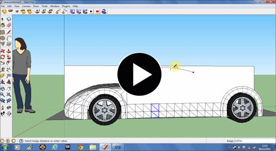 How to Make Car Wheels in Google Sketchup 8