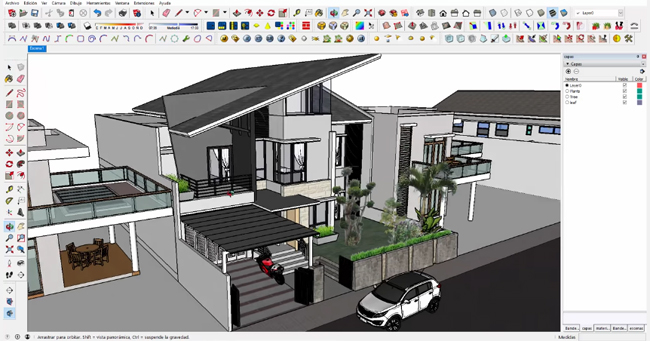 How to use CleanUp sketchup extension to decrease the weight of a sketchup project