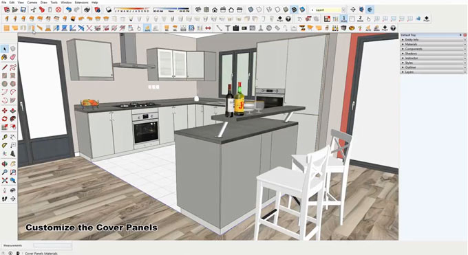 SketchUp – Click-Cuisine 2 – Kitchen of a button LT PRO 2 Win