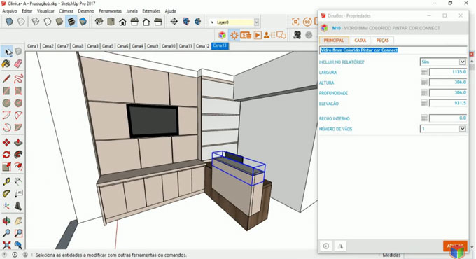 DinaBox (1.9.8.7.9) for SketchUp is available in extension warehouse