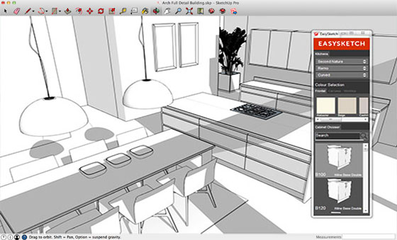 easysketch kitchen design plugin for sketchup - Sketchup Kitchen Design