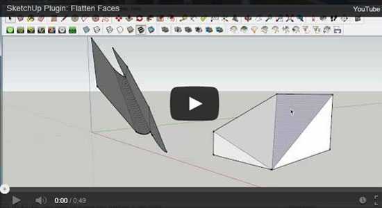 Flatten Faces Plugin for Sketchup