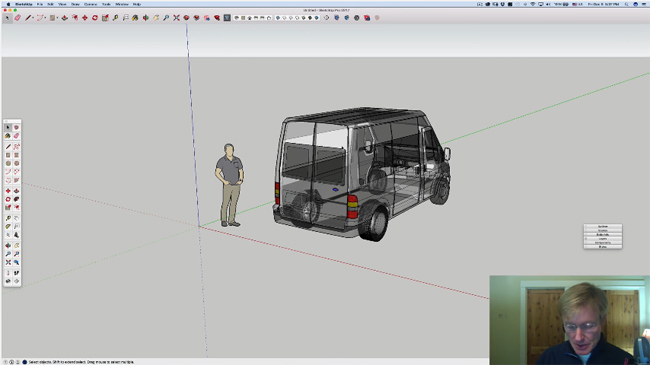 How to create the model of a ford transit 250 with sketchup – A presentation by Ron Paulk