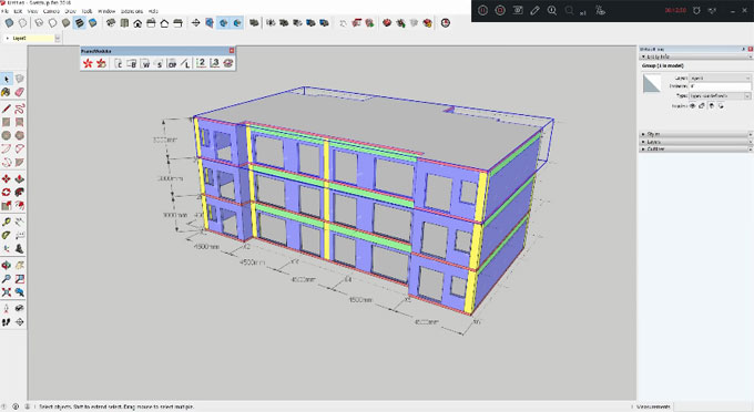 FrameModeler – A useful sketchup extension for architects