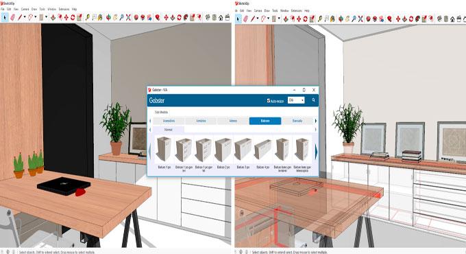 Gabster Lite 3.4.1 for furniture design in sketchup