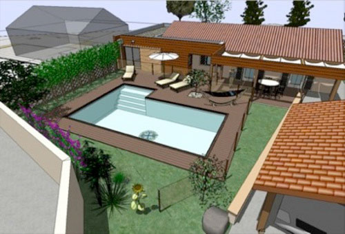Google sketchup pro 8 tutorial free ebooks download for Casas rusticas con jardin