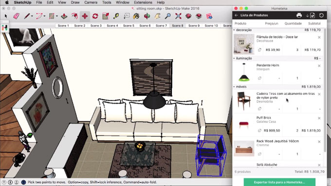 Download Hometeka Plugin for sketchup