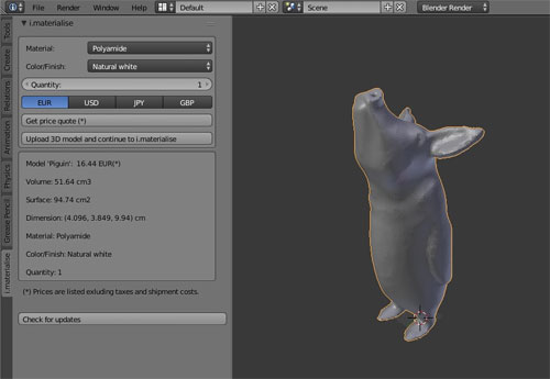 I.Materialise launched new plugin for Blender 3D modeling software