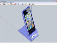 iPhone holder tutorial - SketchUp