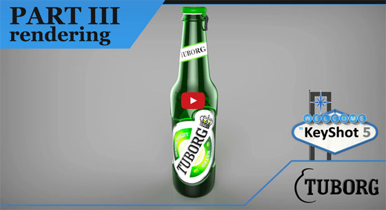How to render a Tuborg beer bottle with Keyshot 5