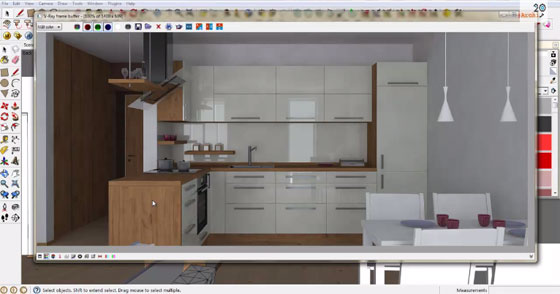How to apply sketchup for kitchen texturing & generating materials