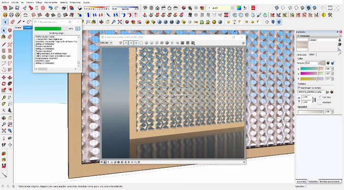 How to Create Lattice Texture in Vray for Sketchup