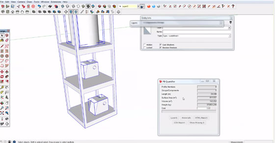 How sketchup is used for load calculation