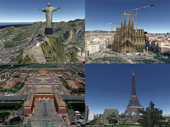 Make 3d models and put them in google earth
