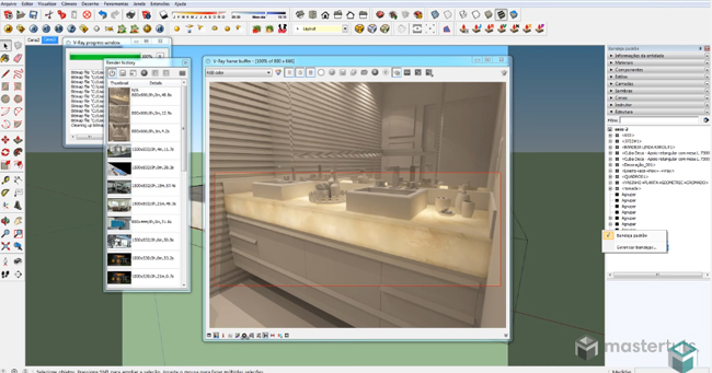 How to generate Illuminated Marble (Onyx) on V-Ray for SketchUp