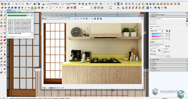 Learn to make silestone material in v-ray for sketchup