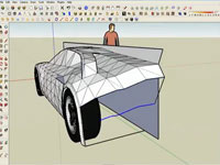 Modeling a supercar in SketchUp part2/6