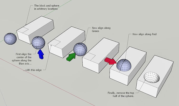 Some useful tips to copy & multiply geometry with the Move tool in sketchup
