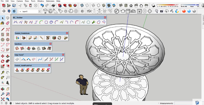 how to create the golden spiral in sketchup 2016