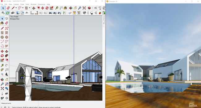 How to use Enscape 3D to create real time visualization in sketchup
