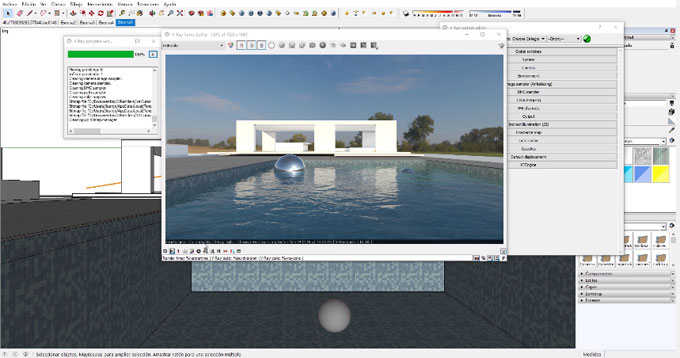 Demo of render farm to improve your rendering with sketchup vray