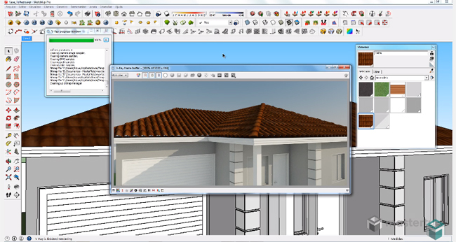 How to make a Roof with Displacement Mapping in V Ray for SketchUp