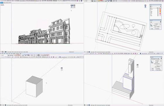 s4u sketchup extensions | s4u import DXF | s4u make box