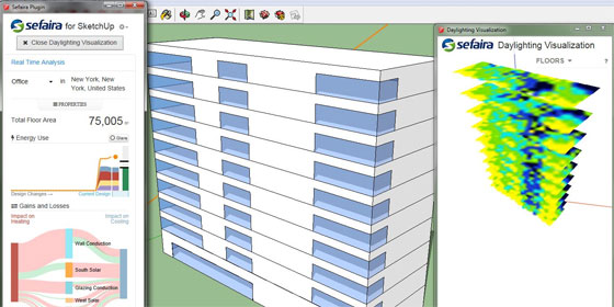 Sefaira Daylight Analysis Plugin for sketchup