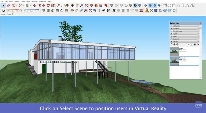 SENTIO VR: Sketchup to Virtual Reality (VR) walkthroughs