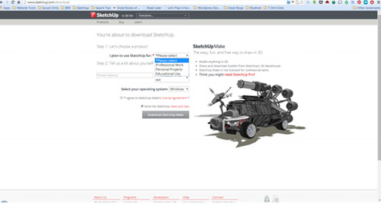 How to download and set up Sketchup