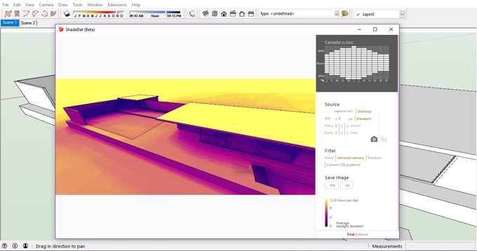 ShadeDat (Beta) – The newest sketchup plugin is available in extension warehouse