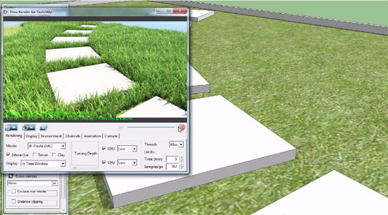 The sketchup users can apply a new scattering extension for Sketchup alias Skatter to produce vegetation inside sketchup.