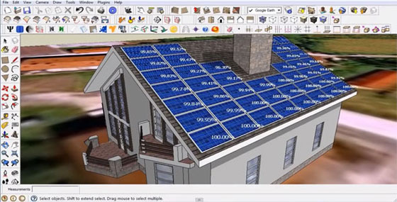 Watch the following live demonstration of skelion solar plugin for sketchup.