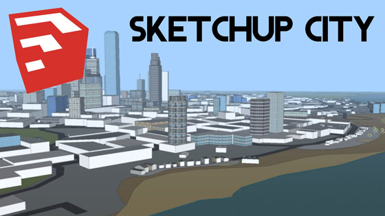 sketchup tools for creating the drawings of a city
