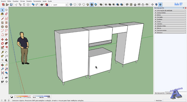 How to design a Folding Vertical Drawer in Sketchup