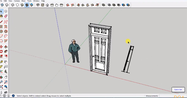 Sketchup tutorial for designing a door