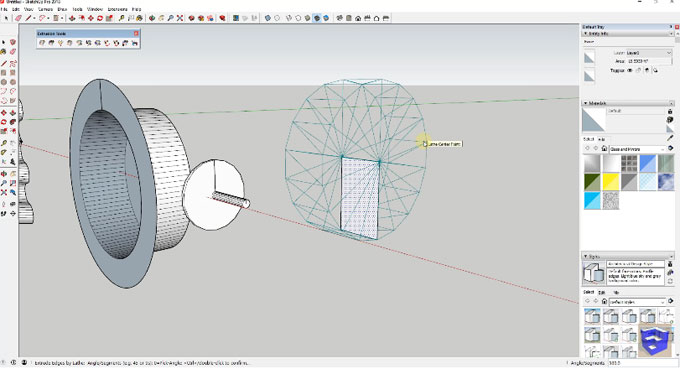 Demonstration of extrusion tools sketchup plugin