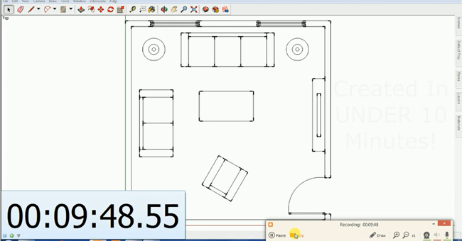 How to generate a floor plan with sketchup in just 10 minutes
