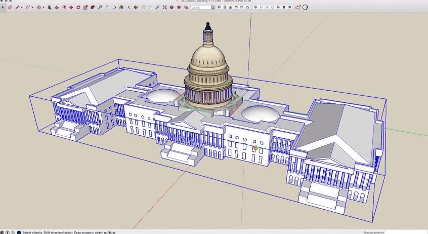 sketchup for cleaning up geometries of a 3d warehouse model