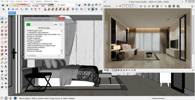 Some useful sketchup tips for improving your model renderings