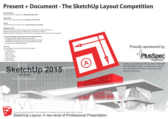 PlusSpec is going to organize an exclusive contest on SketchUp Layout 2D Documentation.